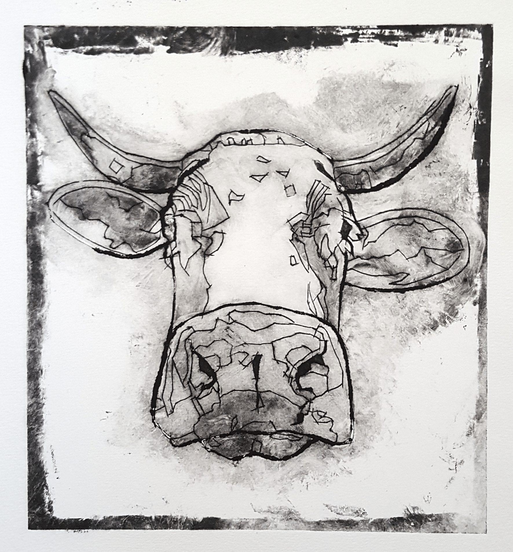 Cow III, 24×26 cm