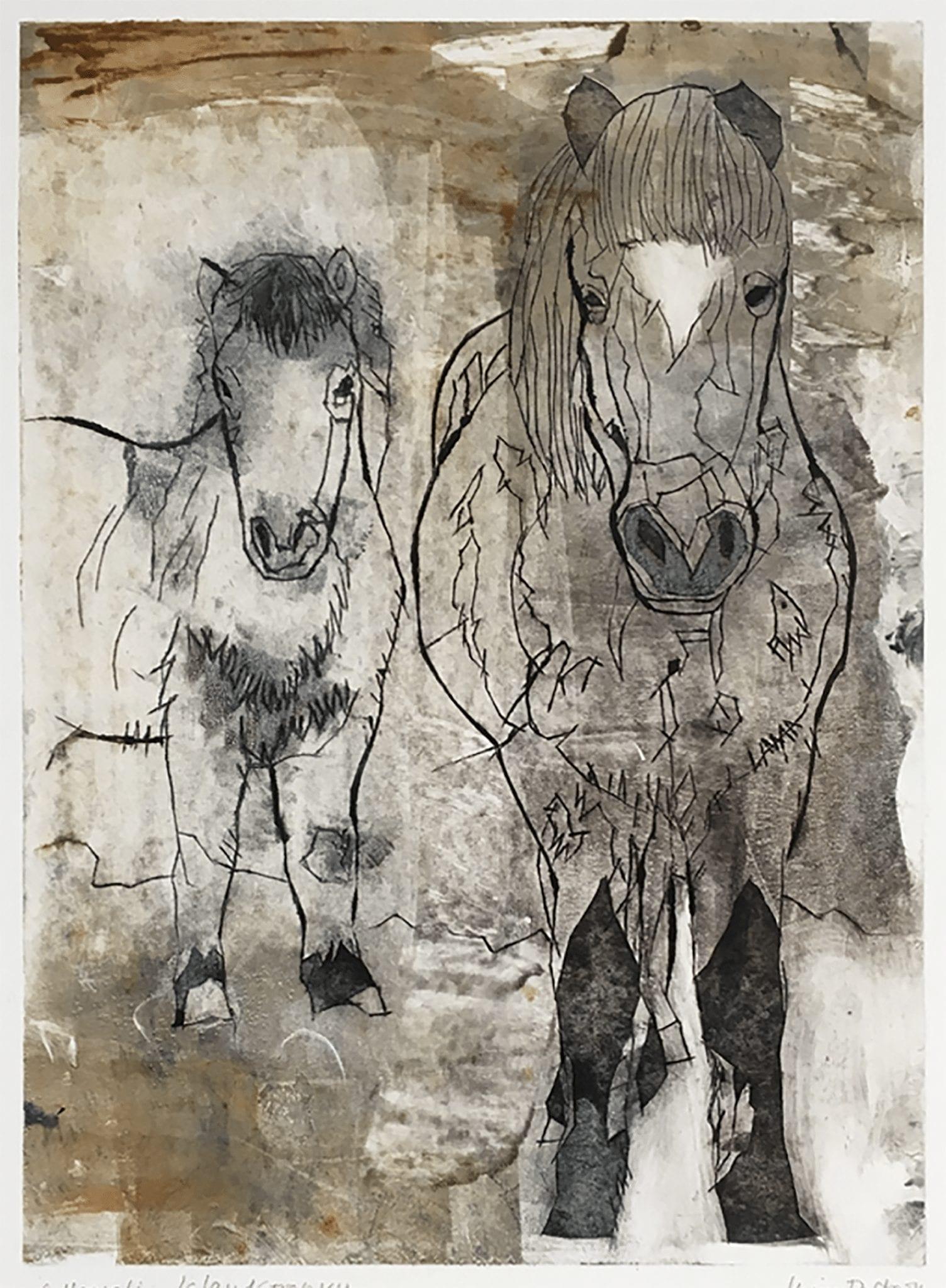Islandshästar I, 26×30 cm
