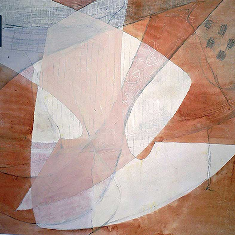 Schablon w1 50×50 cm akryl på papper