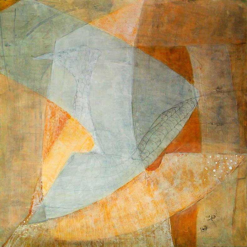Schablon w2 50×50 cm akryl på papper